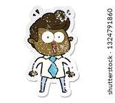 distressed sticker of a cartoon ...   Shutterstock .eps vector #1324791860