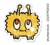 distressed sticker of a quirky... | Shutterstock .eps vector #1324792010