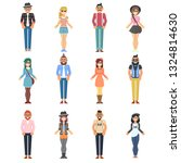 hipster style bearded man young ... | Shutterstock . vector #1324814630