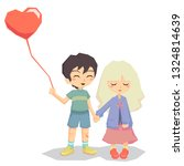couple lovers girl and boy hold ... | Shutterstock . vector #1324814639