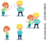 couple man and woman characters ... | Shutterstock . vector #1324814843