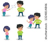couple man and woman characters ... | Shutterstock . vector #1324814846