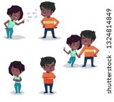 couple man and woman characters ... | Shutterstock . vector #1324814849