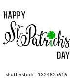 vector lettering card   happy... | Shutterstock .eps vector #1324825616