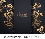gold flower pattern and heart... | Shutterstock .eps vector #1324827416