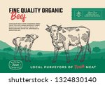 fine quality organic beef.... | Shutterstock .eps vector #1324830140