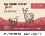 fine quality organic goat....   Shutterstock .eps vector #1324830146