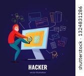 hacker safe composition with... | Shutterstock .eps vector #1324831286