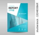 corporate annual report template | Shutterstock .eps vector #1324833869
