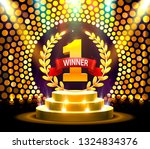 stage podium with lighting ... | Shutterstock .eps vector #1324834376