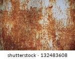 iron surface rust | Shutterstock . vector #132483608