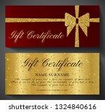 gift certificate  golden ticket ... | Shutterstock .eps vector #1324840616