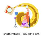 confectioner blogger cook... | Shutterstock .eps vector #1324841126