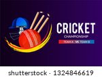 cricket championship banner or... | Shutterstock .eps vector #1324846619