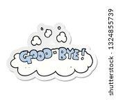 sticker of a cartoon good bye... | Shutterstock .eps vector #1324855739