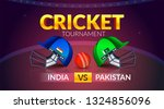 cricket tournament  india v s... | Shutterstock .eps vector #1324856096