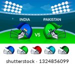 cricket tournament  india v s... | Shutterstock .eps vector #1324856099