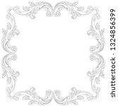 black vintage baroque ornament  ... | Shutterstock .eps vector #1324856399