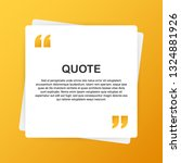 quote background . creative... | Shutterstock .eps vector #1324881926