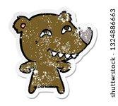 distressed sticker of a cartoon ... | Shutterstock .eps vector #1324886663
