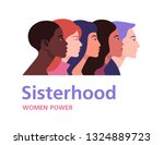 sisterhood. profiles of women... | Shutterstock .eps vector #1324889723