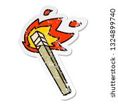 distressed sticker of a quirky... | Shutterstock .eps vector #1324899740
