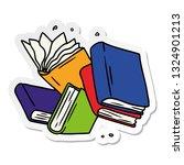hand drawn sticker cartoon... | Shutterstock .eps vector #1324901213