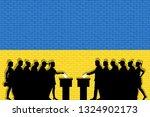 ukrainian voters crowd... | Shutterstock .eps vector #1324902173