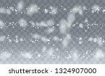 winter snowfall background....   Shutterstock .eps vector #1324907000