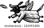 black and white vector... | Shutterstock .eps vector #132491300