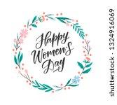 vector happy women's day... | Shutterstock .eps vector #1324916069