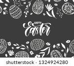 vector happy easter banner with ... | Shutterstock .eps vector #1324924280