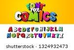 vector font alphabet. the font... | Shutterstock .eps vector #1324932473