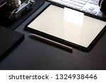 mockup tablet and office... | Shutterstock . vector #1324938446