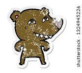 distressed sticker of a cartoon ... | Shutterstock .eps vector #1324945226