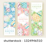 three easter vertical banners... | Shutterstock .eps vector #1324946510