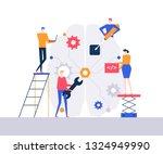 artificial intelligence   flat... | Shutterstock .eps vector #1324949990