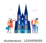 travel to germany   colorful... | Shutterstock .eps vector #1324950050