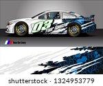 car wrap design. simple lines... | Shutterstock .eps vector #1324953779