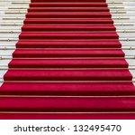 red carpet on white marble... | Shutterstock . vector #132495470
