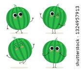 watermelon. cute fruit vector...   Shutterstock .eps vector #1324957913