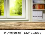 wooden table of free space and... | Shutterstock . vector #1324963019