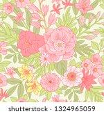 trendy seamless vector floral... | Shutterstock .eps vector #1324965059
