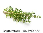 Fresh Thyme Sprigs Isolated On...
