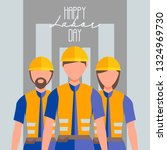 happy labor worker day 1 may... | Shutterstock .eps vector #1324969730