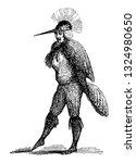 cebus or cephus was a monster... | Shutterstock .eps vector #1324980650