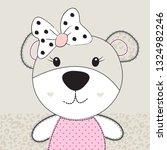 cute teddy bear baby girl...   Shutterstock .eps vector #1324982246