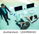 view from the top.business team ... | Shutterstock . vector #1324983410