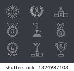 line icons with number one ... | Shutterstock .eps vector #1324987103
