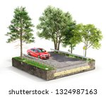 road coat structure. piece of... | Shutterstock . vector #1324987163